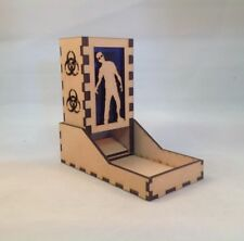Zombie Dice Tower Dark Blue Acrylic Window Laser Cut MDF v1