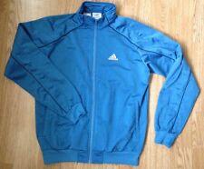 De Colección Adidas Azul Retro 90s Track de Superdry Abrigo Chaqueta Deportiva Urbana UK 34/36