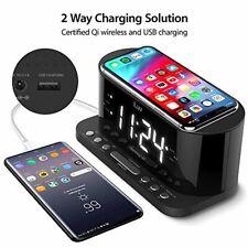Wireless Charging Alarm Clock Radio Alarm for Iphone X XS Samsung android