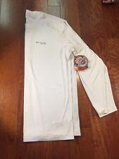 Nwt Mens Columbia Omni Shield Blood N Guts Long Sleeve White Fishing Shirt Xl