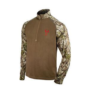 Badlands Seal 1/4 Zip Long Sleeve Shirt (Medium, Approach)