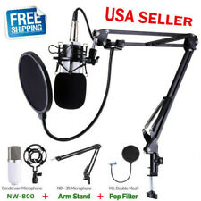 PROFESSIONAL Audio Condenser Microphone Kit Vocal Studio Recording Set Stand USA