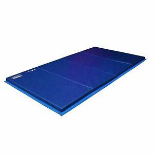 Folding Blue Gymnastics Tumbling Mat Home Floor Exercise Martial Arts Training