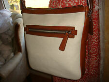 NWT COACH BLEECKER City Field Shoulder/Crossbody Bag Natural/Cream/Fawn 70894