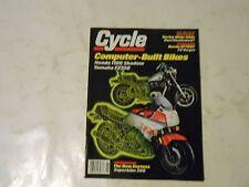 JUNE 1985 CYCLE MAGAZINE,HONDA 1100 SHADOW,HONDA VF700F,HARLEY WIDE GLIDE,AMA
