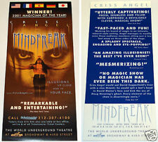 Original Criss Angel Mindfreak New York Show Flyer