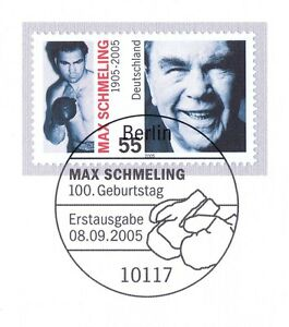 Frg 2005: Max Schmeling No. 2489 With Berlin First Day Special Cancellation! 1A