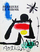 MIRO - DERRIERE LE MIROIR #139-140 - LITHOGRAPH - 1963 - FREE SHIP IN US !!!