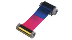 Genuine Fargo 81733 Full-Color Ribbon (YMCKO with Resin Black and Clear Overlay