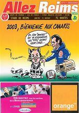PROGRAMME STADE REIMS / FC.NANTES 32ième COUPE DE FRANCE 2002/2003