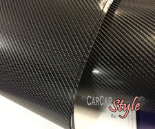 4D Carbon Fibre Vinyl Wrap Film Sheet BLACK 600mm(23.6in) x 1520mm(59.8in)