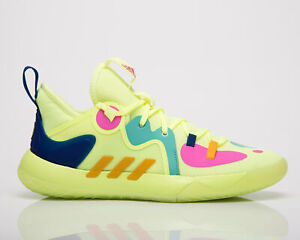adidas Harden Stepback 2 Men's Yellow Blue Pink Low Basketball Sneakers Shoes