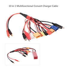 10 In 1 4.0mm Banana Plugs Lipo Battery Charger Plug Convert Cable For RC