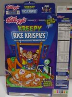 Vintage 2001 Kellogg's Kreepy Rice Krispies Spooky Marshmallows Cereal Box Empty