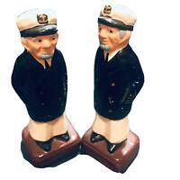 Sailors Navy Military Salt and Pepper Shaker Set Vintage Japan