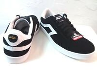 "AIRSPEED-MEN ""MOST SIZES"" LEATHER BLACK/WHITE-PREMIUM-ATHLETIC SHOES"