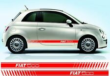 Fiat 500 graphic side stripe decals / stickers - various colours