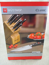 WUSTHOF Classic 7 piece Knife Block Set - 7417-2 - with pull through sharpener