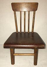 Antique Miniature Plank Bottom Chair Original Hand Made Appalachian Doll Size