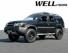 For 99-04 Nissan Xterra Side Window Visors Rain Guards BLACK TRIM WellVisors