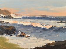ORANGE SURF Original Seascape Pacific Expression Painting 18x24 052118 KEN