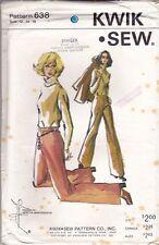 GENUINE 1970s VINTAGE SEWING PATTERN Kwik Sew 638 Ladies Pants (Size 12/14/16)