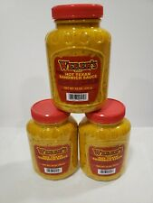 3 Pack of Weber's Hot Texan Sandwich Sauce 16 oz Plastic Bottles
