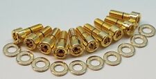 TOYOTA SUPRA MKIV 2JZ-GTE TWIN TURBO 24ct GOLD PLATED SPARK PLUG COVER BOLTS