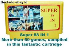 """Super 88 in 1"" Famicom Cartridge Super C Contra Nintendo Multigames Vintage"