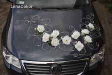 wedding car decoration, ribbon , bows, prom limusine decoration, RETRO white