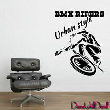 Wall Decal BMX Rider Sticker Bike Bicycle X Games Trial Cycle Jump Teen M1642