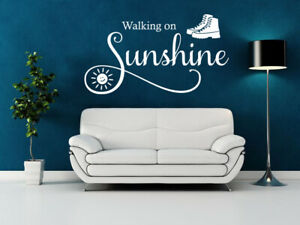 """Wall Quote """"Walking on Sunshine"""" Sticker Modern Transfer PVC Decal Decoration"""