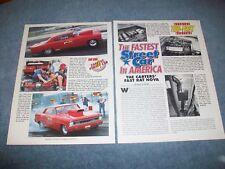 """1966 ChevyII Nova Vintage Drag Car Article """"The Carters' Fast Rat Nova"""""""