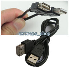100cm/3ft USB2.0 A Male to A Female Data Sync Charger Extension Cable Cord Black