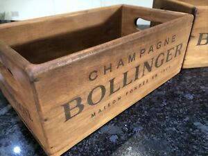 Bollinger Champagne Wooden Vintage Style Box 28cm