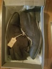 H by hudson size 9 NIB mens suede boots black, dipped ink