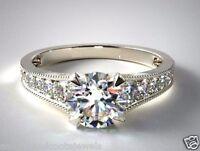 2.00 ct Brilliant Round Diamond Engagement Anniversary Ring 14k Solid White Gold
