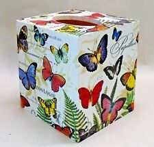 Made To Order, Handmade Decoupage Tissue Box Cover, Butterflies