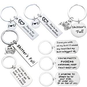 Boyfriend Birthday Gifts Girfriend Keyring Keychain Stainless Steel Key Chains
