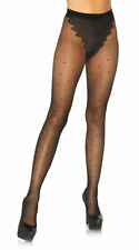 One Size Fits Most Womens Sheer French Cut Polka Dot Pantyhose