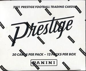 2021 PANINI PRESTIGE FOOTBALL CARDS FACTORY SEALED 12 PACK FAT PACK BOXNFL