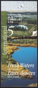 FRESH WATERS = ICEBERG, LAKE, RIVER = Canada 2000 #1855 BK229 MNH BOOKLET