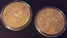 USA GOLFKRIEG - DESERT STORM KRIEG - 40 MM - GOLDMÜNZE / MEDAILLE - SELTEN & PP
