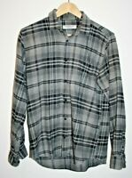 Cedar Wood State Long Sleeve Shirt Checked Grey Warm Thick Cotton Size M FAST DE