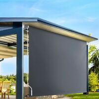 Outdoor Shade Retractable Blind Awning Canopy Roll Down Privacy Screen 3m x 2.5m