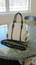 BIG BUDDHA Purse Shoulder Hand Bag Handbag Strap Budda White Gold Cccents