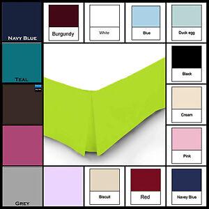 Plain Dyed PolyCotton Platform Base Valence Box Pleated Sheet, Attractive Colors