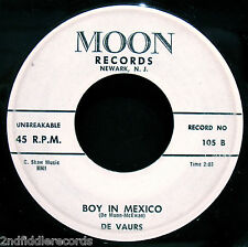 THE DE VAURS-Where Are You-Rare Northern Soul Vocal-Doo Wop 45-MOON #105