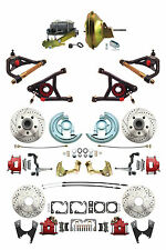 "GM 1967-72 A-Body Four Wheel D/S Disc Brake Kit, 11"" Power, Control Arms, Red PC"