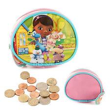 Disney Childrens Pink Doc Mcstuffins Girls Round Coin Purse With Zip